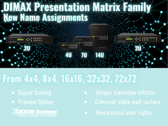 DIMAX Presentation Matrix family - NEW NAME ASSIGNMENTS!