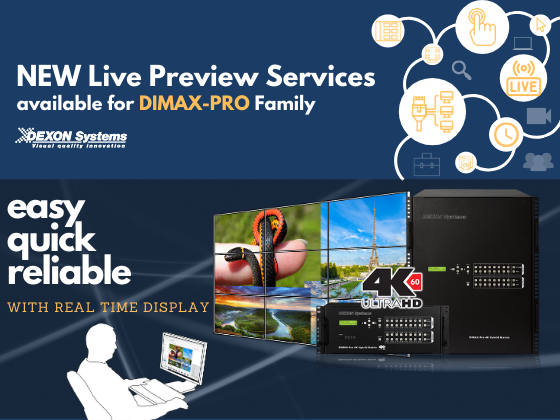 NEW Live Preview Services for DIMAX Family!