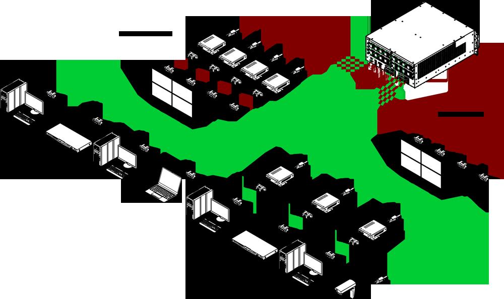 dxn5200 video wall 16x16